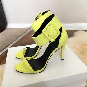 ASOS Neon Yellow Ankle Strap Sandals